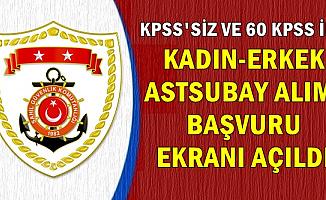 Sahil Güvenlik KPSS'siz ve 60 KPSS ile Astsubay Alımı (Kadın-Erkek)