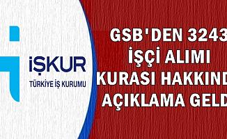 Spor Bakanlığı GSB 3243 İşçi Alımı Kura Yer ve Tarihi