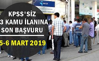 KPSS'siz 13 Kamu İlanına Son Başvuru: 5-6 Mart 2019 /Farklı Şehirlerde Belediyelere Personel-İşçi)
