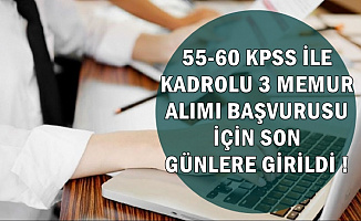 55-60 KPSS ile 3 Belediye Memuru Alımı Başvurusu Sona Eriyor