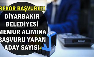 Diyarbakır Belediyesi Memur Alımı Başvuru Sayısı Belli Oldu (Zabıta-Kamu Personeli)
