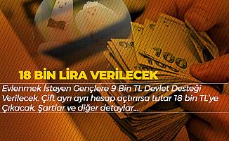 Evlenmek İsteyenlere 18 Bin Lira Devlet Desteği! Başvuru Şartları
