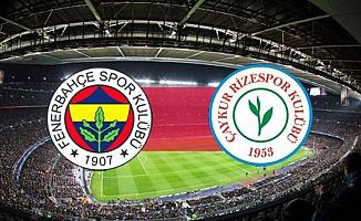 Fenerbahçe Çaykur Rizespor Maçı (Lig Puan Durumu)