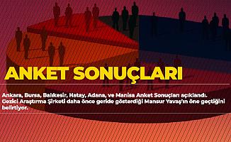 Gezici Araştırma Anket Sonucunu Değiştirdi! Ankara, İstanbul, Bursa, Adana, Manisa, Hatay ve Balıkesir Anket Sonuçları