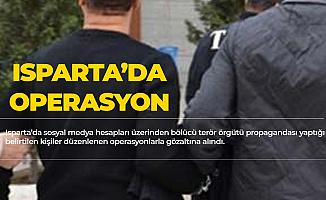 Isparta'da Sosyal Medya Üzerinden Terör Propagandası Yapanlara Şok Baskın