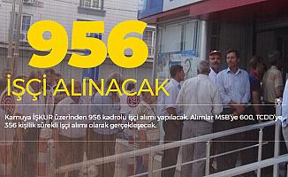 Kamuya İŞKUR Üzerinden 956 Kadrolu İşçi Alımı Yapılacak (MSB ve TCDD İşçi Alımları)