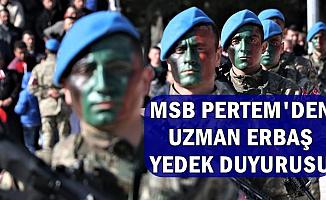MSB PERTEM'den Hava ve Deniz Kuvvetleri Uzman Erbaş Duyurusu