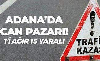 Son Dakika! Adana'da Can Pazarı , Lastiği Patlayan Midibüs Devrildi