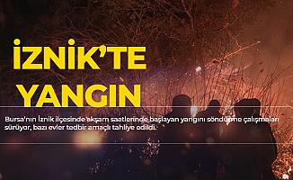 Son Dakika! Bursa İznik'te Yangın, Evler Tahliye Ediliyor