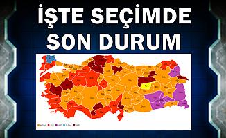 Yerel Seçim Sonuçlarında Son Durum-Haritalı Sonuçlar