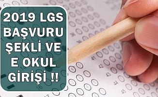 2019 LGS Başvuru Şekli (E-Okul VBS Girişi Sayfası)
