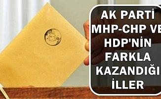 AK Parti-MHP-CHP-HDP'nin Farkla Kazandığı Belediyeler