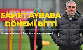 Bursaspor'da Samet Aybaba ile Yollar Ayrıldı