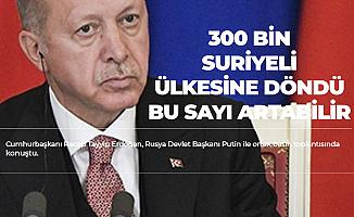 Cumhurbaşkanı Erdoğan: Bizim Amacımız Suriye'de Toprak Bütünlüğü