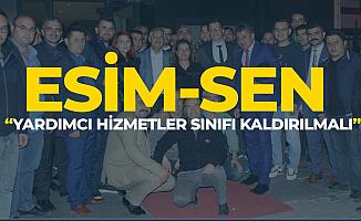 ESİM-SEN Ankara'da Seslendi 'Yardımcı Hizmetler Sınıfı Kaldırılmalı'