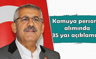 Fahrettin Yokuş'tan Kamuya Personel Alımında 35 Yaş Açıklaması
