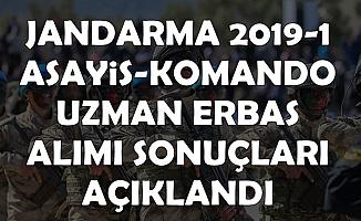 Jandarma 2019-1 Uzman Erbaş Alımı Başvuru Sonuçları (Asayiş Komando)