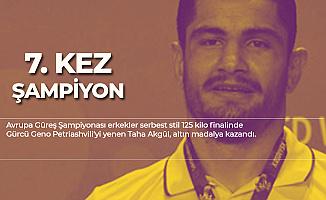 Milli Güreşçi Taha Akgül 7. Kez Şampiyon