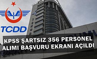 TCDD Kadrolu KPSS'siz 356 İşçi Alımı İŞKUR Başvuru Ekranı