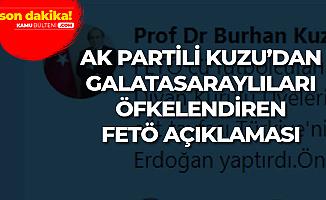 AK Partili Burhan Kuzu: FETÖ'cü Futbolcuların Çoğu Galatasaraylı