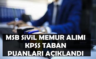 MSB 165 Sivil Memur Alımı KPSS Taban Puanları Açıklandı-O Kadroya Kimse Başvurmadı