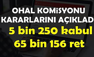 OHAL Komisyonu Açıkladı: 5 Bin 250 Göreve İade, 65 Bin 156 Ret