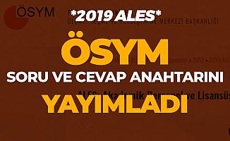 ÖSYM 2019 ALES Soruları ve Cevap Anahtarını Erişime Açtı