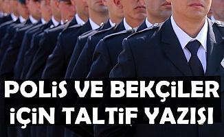 Polis ve Bekçilere Ödeme: Taltif Yazısı Geldi