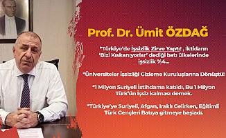 Prof. Dr. Ümit Özdağ'dan Yeni Proje! İlk Haftanın Konusu 'Genç işsizlik ve Suriyelilerin Ülkelerine Dönüşünün Hızlandırılması'