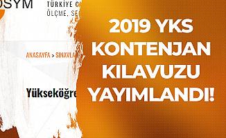2019 YKS Kontenjan ve Üniversite Programları Kılavuzu Duyurusu yayımlandı