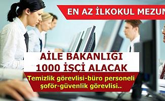 Kamuya 1000 İşçi Alacak-Büro Memuru, Şoför, Güvenlik Görevlisi, Temizlik Personeli..