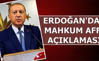 Cumhurbaşkanı Erdoğan'dan Mahkumlara Af Açıklaması-Tarih Verdi