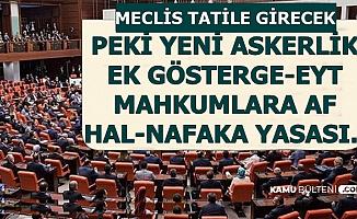 Meclis Yaz Tatiline Girecek-Mahkumlara Af-3600 Ek Gösterge-EYT-Yeni Askerlik İçin Kritik Haber