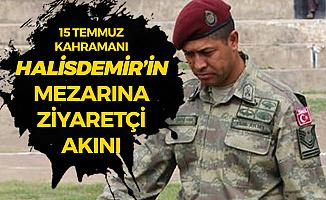 15 Temmuz Şehidi Ömer Halisdemir'in Mezarına Ziyaretçi Akını