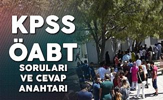 2019 KPSS ÖABT Soruları ve Cevap Anahtarı Yayımlandı