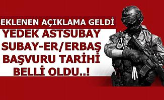 5-6 Bin TL Maaşla MSB Yedek Subay-Astsubay-Er/Erbaş Başvuru Tarihini
