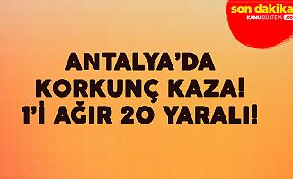 Antalya'da Tur Midibüsü Devrildi! 20 Kişi Yaralandı