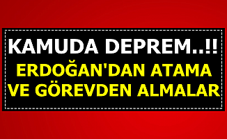 Erdoğan İmzaladı: Kamuda Görevden Alma Depremi ve Flaş Atamalar