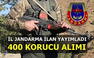 İlan Yayımlandı: İl Jandarma 400 Korucu Alımı Yapacak