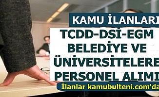 İŞKUR Kamu İlanları: TCDD-DSİ-EGM ve Üniversiteler Personel Alımı: Son Başvuru 16 Temmuz 2019