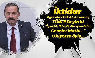 İYİ Partili Ağıralioğlu: O Zaman TÜİK'e Deyin ki 'İşsizlik Sıfır, Enflasyon Sıfır, Gençler Mutlu' , Oluyorsa Öyle...