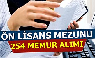 KPSS 2019/1 Kapsamında Ön Lisans Mezunu 254 Kamu Personeli Alınıyor