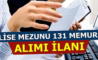Kamuya Ortaöğretim Mezunu Mülakatsız 131 Memur Alımı