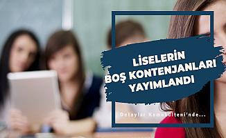 MEB Liselerin Boş Kontenjanlarını Yayınladı