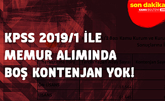 ÖSYM Açıkladı: KPSS 2019/1 'de Boş Kontenjan Kalmadı!