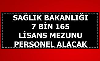Sağlık Bakanlığı 13 Kadroya Lisans Mezunu 7 Bin 165 Kamu Personeli Alımı Yapacak