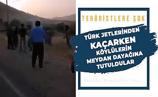 Şanlı Türk Ordusunun Gazabından Kaçan Teröristleri Döve Döve Köyden Attılar!