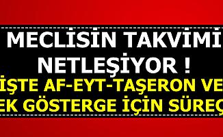 Meclisin 1 Ekim Sonrası Takviminde Mahkumlara Af-EYT-Taşeron ve 3600 Ek Gösterge Süreci