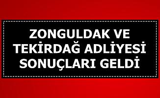 Zonguldak ve Tekirdağ Adliyesi Personel Alımı Sonuçlarını Açıkladı