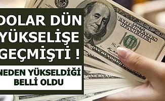 Dolar Kurunun Neden Yükseldiği Açıklandı